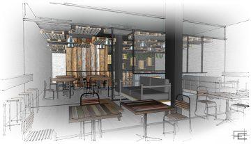 EFECEteca_01: Cafetería-restaurante en O Burgo